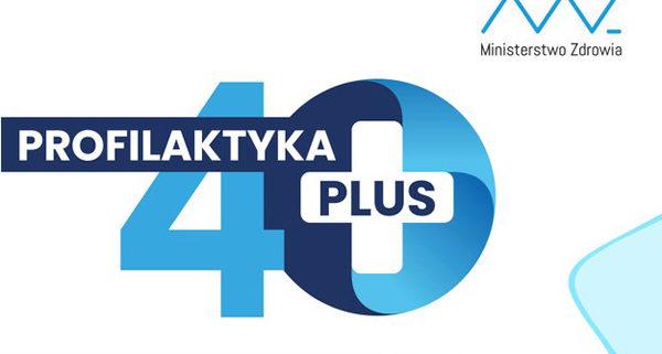 Logo programu Profilaktyka 40 PLUS.