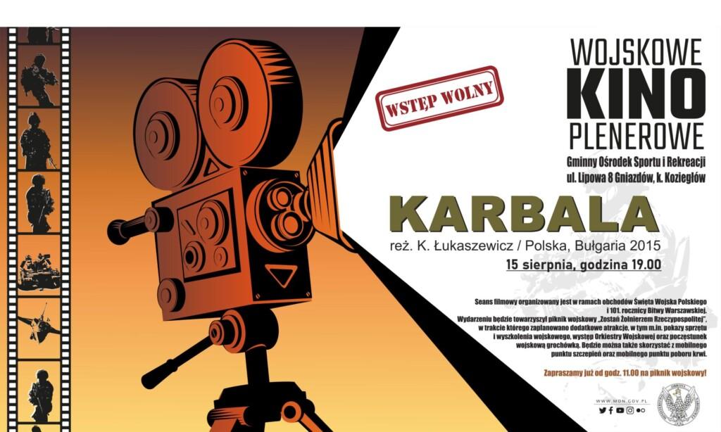 Plakat promocyjny - Wojskowe Kino Plenerowe.