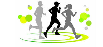Grafika promocyjna z sylwetkami biegaczy.