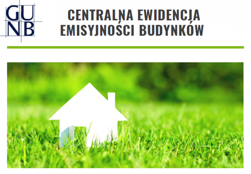 Grafika promocyjna - Centralna Ewidencja Emisyjności Budynków.