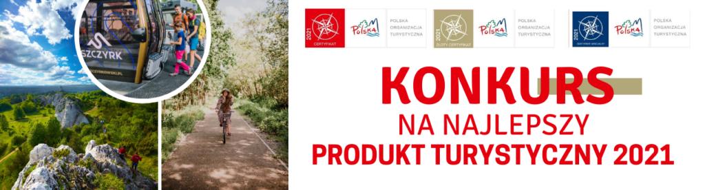 Grafika promocyjna - konkurs na Najlepszy Produkt Turystyczny 2021.
