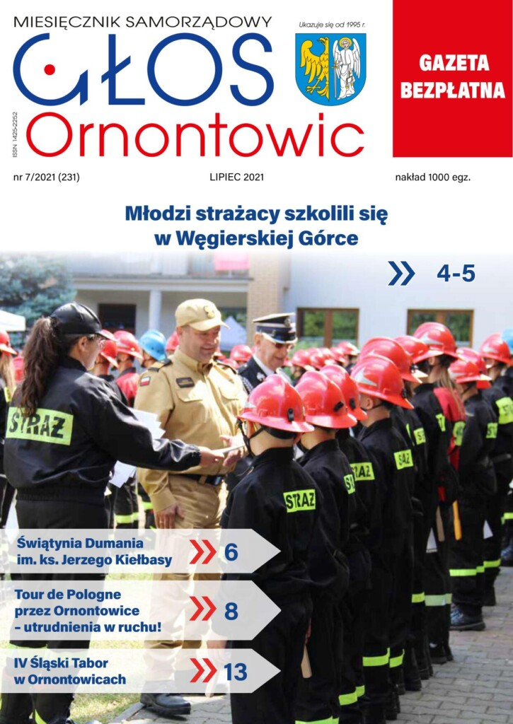 "Okładka ""Głosu Ornontowic"" numer 7/2021 (231)."