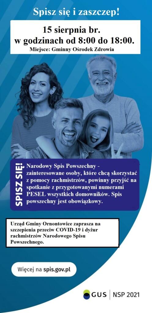 Plakat promocyjny szczepień.