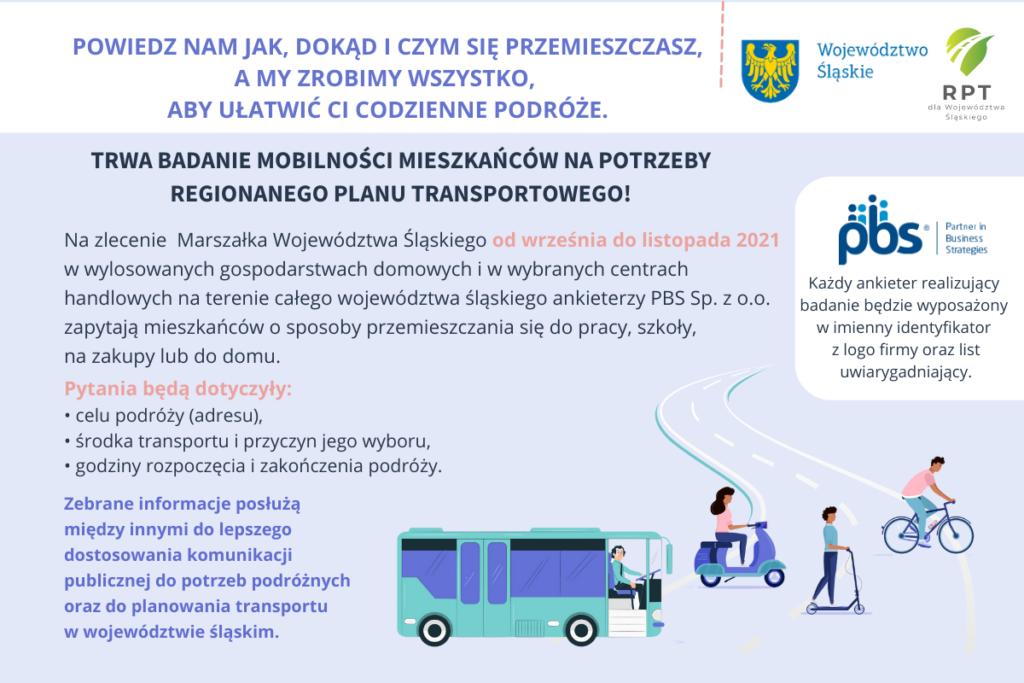 Regionalny Plan Transportowy dla Województwa Śląskiego - badania ankietowe