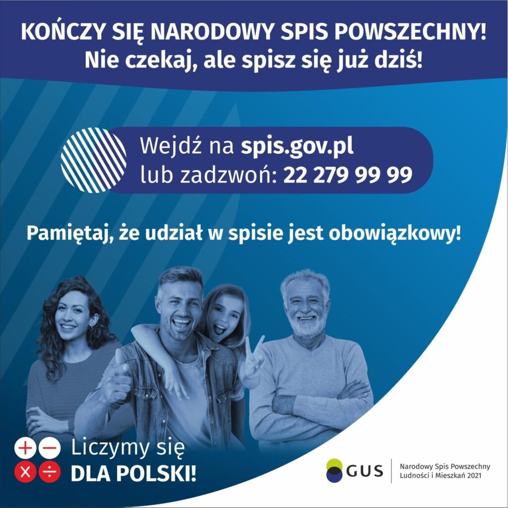 Grafika promocyjna - Narodowy Spis Powszechny.
