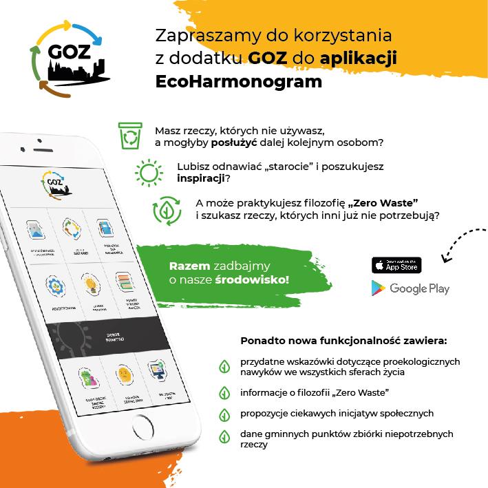 Plakat promocyjny - aplikacja EcoHarmonogram.
