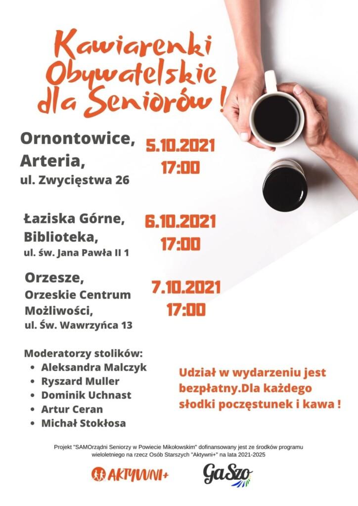 Plakat Kawiarenki dla Seniorów
