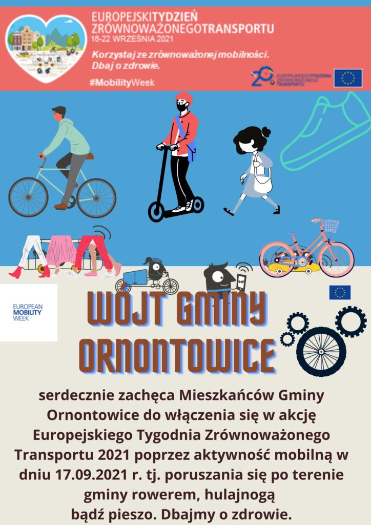Plakat promocyjny - Europejski Tydzień Zrównoważonego Transportu.
