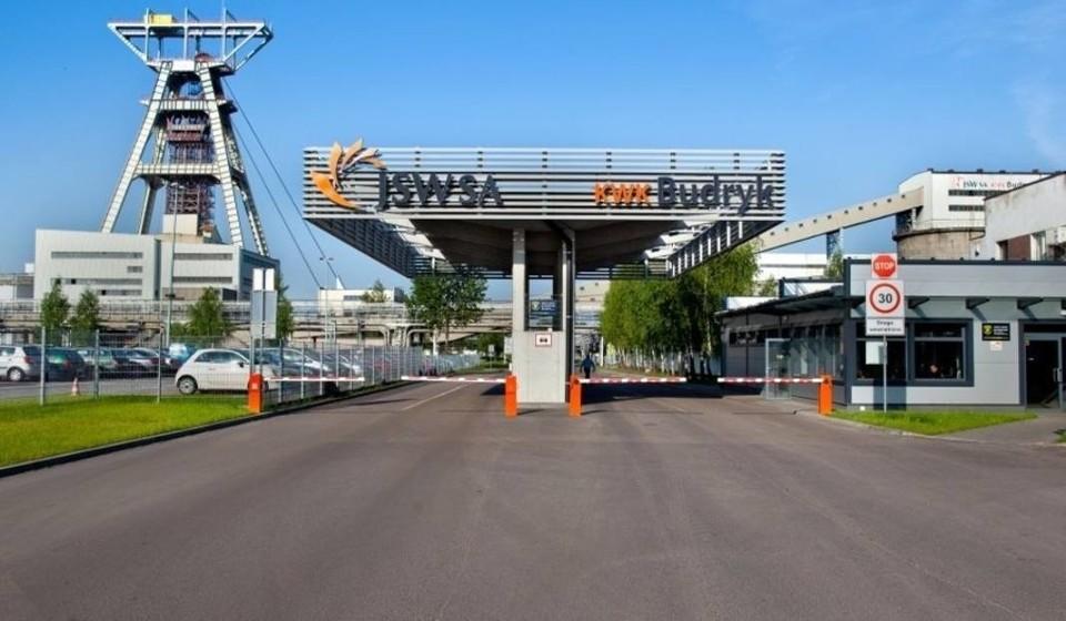Zdjęcie bramy wjazdowej do KWK Budryk.