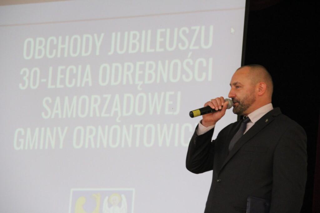 Zdjęcie z obchodów jubileuszu 30-lecia odrodzenia Gminy Ornontowice - 29 września 2021 roku.