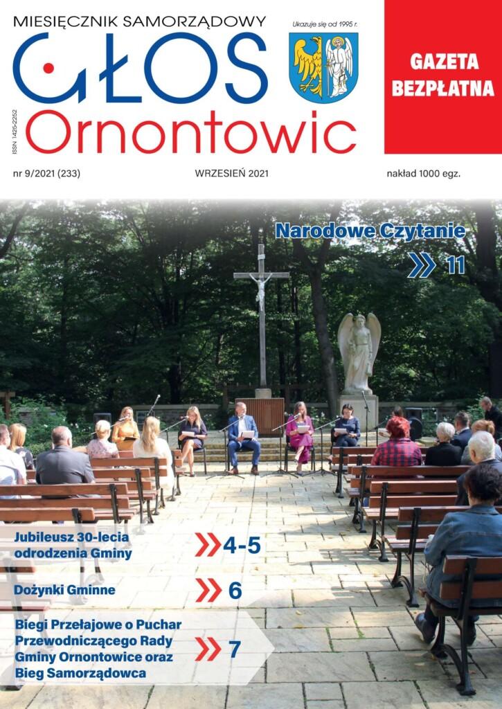 """Okładka wrześniowego """"Głosu Ornontowic"""" nr 9/2021 (233)."""